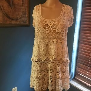 Lace shirt/dress